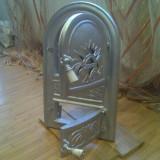 Usa pentru Soba Teracota Argintie, Turnata din fonta Dubla cu Cenusar Rustica ! - Metal/Fonta, Altul