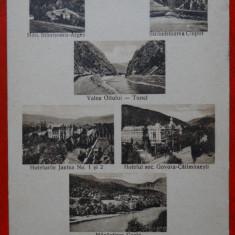 Carte postala - Baile Calimanesti - Caciulata - Circulat - Supratipar 1930