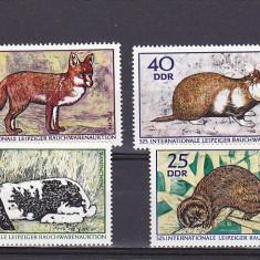 Fauna, animale de blana, DDR. - Timbre straine