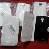 Husa tip portofel Samsung Galaxy S4 ( i9500 / i9505 ) folie cadou - Husa Telefon Samsung, Alb, Piele Ecologica, Cu clapeta