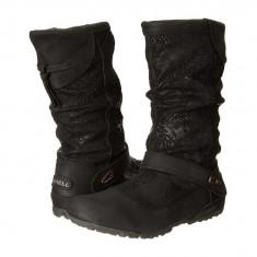 Boots femei Merrell Haven Pull | 100% originals | Livrare cca 10 zile lucratoare | Aducem pe comanda orice produs din SUA - Cizma dama Merrell, Negru