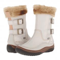 Boots femei Merrell Decora Chant Waterproof | 100% originals | Livrare cca 10 zile lucratoare | Aducem pe comanda orice produs din SUA - Cizma dama Merrell, Crem