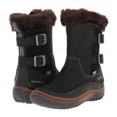 Boots femei Merrell Decora Chant Waterproof | 100% originals | Livrare cca 10 zile lucratoare | Aducem pe comanda orice produs din SUA - Cizma dama Merrell, Negru