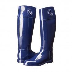 Boots femei Armani Jeans RJ Rain Boot With Crystal | 100% originals | Livrare cca 10 zile lucratoare | Aducem pe comanda orice produs din SUA - Cizma dama Armani, Bleumarin