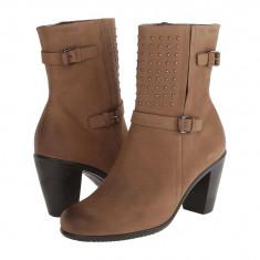 Boots femei ECCO Touch 75 Mid Cut Bootie | 100% originals | Livrare cca 10 zile lucratoare | Aducem pe comanda orice produs din SUA - Gheata dama Ecco, Maro