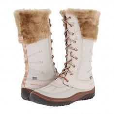 Boots femei Merrell Decora Prelude Waterproof | 100% originals | Livrare cca 10 zile lucratoare | Aducem pe comanda orice produs din SUA - Cizma dama Merrell, Crem