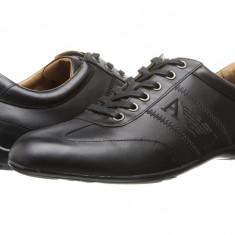 Pantofi sport barbati Armani Jeans Leather Lace-Up Driver | 100% originali | Livrare cca 10 zile lucratoare | Aducem pe comanda orice produs din SUA - Adidasi barbati