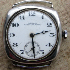 Vind ceas LONGINES EBERHARD MILAN 1920 argint perfect functional - Ceas de mana