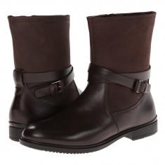 Boots femei ECCO Touch 15 Buckle Boot | 100% originals | Livrare cca 10 zile lucratoare | Aducem pe comanda orice produs din SUA - Cizma dama Ecco, Maro