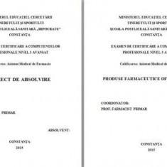 LUCRARE DE LICENTA A.M.F. - PRODUSE FARMACEUTICE OFTALMOLOGICE - Carte Oftalmologie