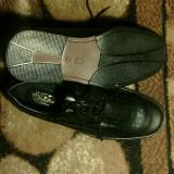 Pantofi piele naturala pentru barbati - Pantof barbat, Marime: 43, Culoare: Negru