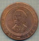 ATAM2001 MEDALIE 17 - MIHAI EMINESCU -1850-1889 -CENTENAR - BRAILA - ROMANIA -1889-1989- DUNAREA - LUCEAFARUL - starea care se vede
