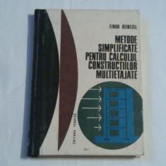 EINAR KEINTZEL - METODE SIMPLIFICATE PENTRU CALCULUL CONSTRUCTIILOR MULTIETAJATE