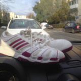 Adidas Adizero CC5 - Adidasi barbati, Marime: 40 2/3, Culoare: Alb, Textil