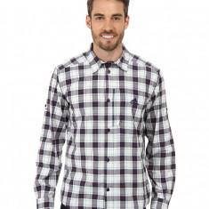 Barbati adidas Outdoor Hiking Check Long Sleeve Shirt | 100% originali | Livrare cca 10 zile lucratoare | Aducem pe comanda orice produs din SUA - Tricou barbati Adidas, Maneca scurta