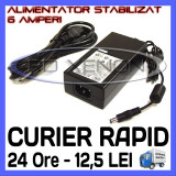 SURSA ALIMENTARE - ALIMENTATOR STABILIZAT 12V - 6 A AMPERI - PENTRU BANDA LED RGB 300 SMD - CABLU 220V INCLUS