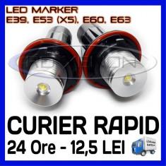 ANGEL EYES LED MARKER - E39, E53 X5, E60, E63 - 5W High Power - ALB 6000K