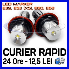 ANGEL EYES LED MARKER - E39, E53 X5, E60, E63 - 5W High Power - ALB 6000K ZDM, Universal