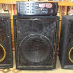 Statie si boxe pt evenimente cadou 2 microfoane wifi statia are 1000rms, boxele300 si subw700rms detalii complete la tel, ---0784268534--- - Echipament karaoke