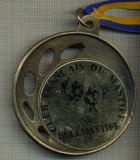 ATAM2001 MEDALIE 04 - TEMA CANINA - CLUB FRANCAIS DU MASTIFF & BULLMASTIFF -FRANTA - panglica albastru cu galben- starea care se vede