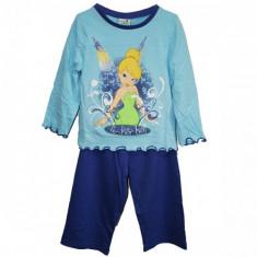 Pijamale albastre fetite Disney Fairies TinkerBell varsta 1 - 4 ani, Marime: Masura unica, Culoare: Din imagine, Fete