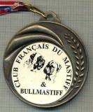 ATAM2001 MEDALIE 03 - TEMA CANINA - CLUB FRANCAIS DU MASTIFF & BULLMASTIFF -FRANTA - panglica tricolorul francez- starea care se vede