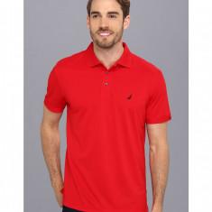 Barbati Nautica Solid Tech Pique Shirt | Produs100% original | Livrare cca 10 zile lucratoare | Aducem pe comanda orice produs din SUA - Tricou barbati Nautica, Maneca scurta