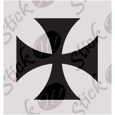 Cruce_Sticker diverse_Auto_Moto_DIV-164-Dimensiune: 15 cm. X 15 cm. - Orice culoare, Orice dimensiune - Sticker laptop