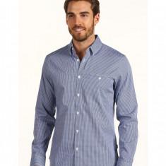 Barbati Calvin Klein L/S Mini Gingham Sport Shirt | Produs100% original | Livrare cca 10 zile lucratoare | Aducem pe comanda orice produs din SUA - Camasa barbati Calvin Klein, Maneca lunga, Albastru