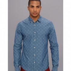 Barbati Scotch & Soda Jacquard Button Down Shirt | Produs100% original | Livrare cca 10 zile lucratoare | Aducem pe comanda orice produs din SUA - Camasa barbati Scotch & soda, Maneca lunga, Albastru