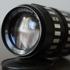 Obiectiv foto 135mm/3.5 A Schacht Ulm m42 DSLR Canon Nikon Sony NEX Fuji Olympus - Obiectiv DSLR Olympus, Tele, Manual focus, Minolta - Md