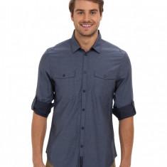 Barbati Calvin Klein Jeans Basic '14 Woven - Solid | Produs100% original | Livrare cca 10 zile lucratoare | Aducem pe comanda orice produs din SUA - Camasa barbati Calvin Klein, Maneca lunga, Albastru