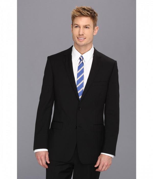Costume barbati DKNY Black Plain Jacket | Produs100% original | Livrare cca 10 zile lucratoare | Aducem pe comanda orice produs din SUA foto mare
