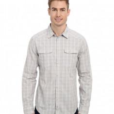 Barbati Calvin Klein Jeans L/S Curved Yoke Shirt | Produs100% original | Livrare cca 10 zile lucratoare | Aducem pe comanda orice produs din SUA - Camasa barbati Calvin Klein, Maneca lunga, Gri