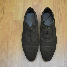 Pantofi barbati ZARA MAN 44 Originali Transport Gratuit, Culoare: Maro, Piele naturala