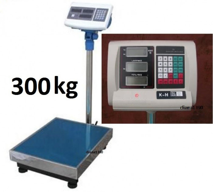 Cantar electronic platforma 300 kg Piata sau Engross Angro foto mare