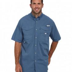 Barbati Columbia Bonehead™ S/S Shirt - Tall | Produs100% original | Livrare cca 10 zile lucratoare | Aducem pe comanda orice produs din SUA - Camasa barbati Columbia, Maneca scurta, Albastru