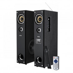 Sistem audio 2 turnuri FM ,SD,USB si Microfon 2x 40 w