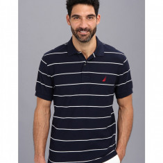 Barbati Nautica New Stripe S/S Polo Shirt | Produs100% original | Livrare cca 10 zile lucratoare | Aducem pe comanda orice produs din SUA - Tricou barbati Nautica, Maneca scurta
