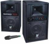 MEGA SISTEM 2 BOXE ACTIVE/AMPLIFICATE 400WATT,CU MP3 PLAYER USB,AFISAJ LCD SI MICROFON WIRELESS INCLUS.