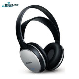 Casti Philips Wireless 2 canale, SHC5100/10, fara fir - negre cu banda sustinere, Casti Over Ear, Active Noise Cancelling