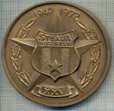 ATAM2001 MEDALIE 127 - FOTBAL -STEAUA BUCURESTI - XXV - 1947-1972 - A XXV-A ANIVERSARE A CLUBULUI SPORTIV STEAUA -starea care se vede