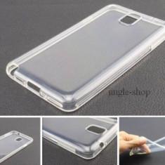 Husa silicon alb - transparent Samsung Galaxy Note 3 N9000 + folie ecran