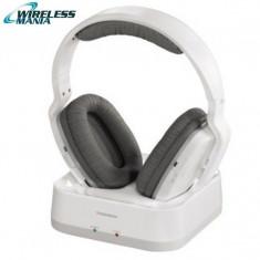 Casti Wireless Thomson WHP3311W, albe, fara fir, Casti Over Ear, Active Noise Cancelling