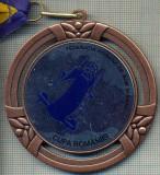 ATAM2001 MEDALIE 166 -SPORTIVA - CUPA ROMANIEI -FEDERATIA ROMANA DE BOB SI SANIE -PANGLICA TRICOLOR ROMANIA -starea care se vede