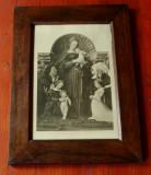 Tablou cu rama de lemn si sticla - Litografie dupa pictura celebra !!!