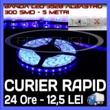ROLA BANDA 300 LED - LEDURI SMD 3528 ALBASTRU (ALBASTRA, ALBASTRE) - 5 METRI, IMPERMEABILA (WATERPROOF), FLEXIBILA - Banda LED ZDM