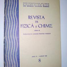 Revista de Fizica si Chimie aug. Nr. 8 / 1969 - Culegere Fizica