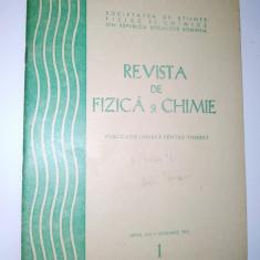 Revista de Fizica si Chimie ian. Nr. 1 / 1975 - Culegere Fizica
