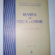 Revista de Fizica si Chimie aug. Nr. 8 / 1974 - Culegere Fizica